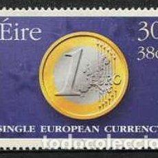 Sellos: IRLANDA - EURO / MONEDA UNICA EUROPEA (1999) **. Lote 115407923