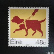 Timbres: IRLANDA. YVERT 1716. SERIE COMPLETA NUEVA SIN CHARNELA. FAUNA. PERRO GUÍA. LEYENDA EN BRAILLE.. Lote 117411214