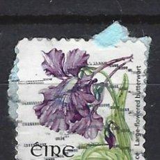 Sellos: IRLANDA / FAUNA - SELLO USADO CON PAPEL. Lote 121803699