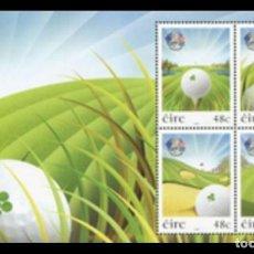 Sellos: IRLANDA 2006 - GOLF - RYDER CUP - HOJITA BLOQUE. Lote 126667675