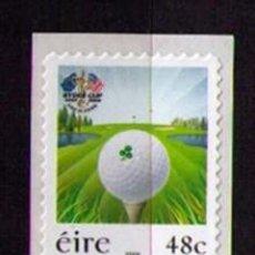 Sellos: IRLANDA 2006 - GOLF - RYDER CUP - TIRA VERTICAL - SELLOS ADHESIVOS. Lote 126667823