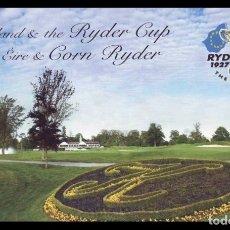 Sellos: IRLANDA 2006 RYDER CUP DE GOLF CARNET PRESTIGE DE 16 SELLOS. Lote 39705304