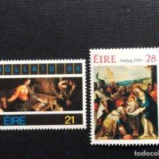 Sellos: IRLANDA Nº YVERT 614/5*** AÑO 1986. NAVIDAD. PINTURA DE PASCUCCI Y F.FRANCKEN III. Lote 131871626
