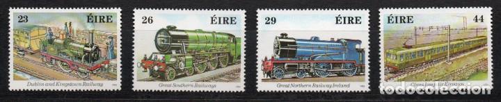 IRLANDA AÑO 1984 YV 531/34*** FERROCARRILES - TRENES - LOCOMOTORAS - TRANSPORTES (Sellos - Extranjero - Europa - Irlanda)
