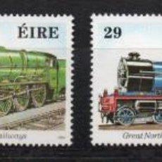 Sellos: IRLANDA AÑO 1984 YV 531/34*** FERROCARRILES - TRENES - LOCOMOTORAS - TRANSPORTES. Lote 137158990