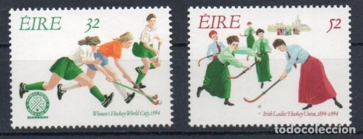 IRLANDA AÑO 1994 YV 862/3**** CENTº DE LA UNION FEMENINA DE HOCKEY Y CAMPEONATO MUNDIAL - DEPORTES (Sellos - Extranjero - Europa - Irlanda)