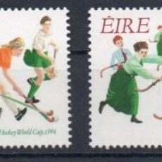 Sellos: IRLANDA AÑO 1994 YV 862/3**** CENTº DE LA UNION FEMENINA DE HOCKEY Y CAMPEONATO MUNDIAL - DEPORTES. Lote 137160406