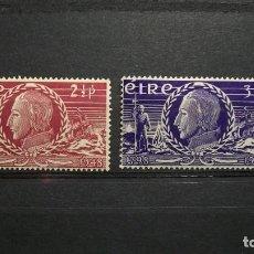 Sellos: IRLANDA-1948-Y&T 106/7**(MLH). Lote 138823270
