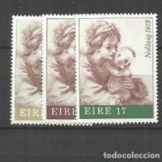 Sellos: IRLANDA YVERT NUM. 391/393 ** SERIE COMPLETA SIN FIJASELLOS. Lote 261117105
