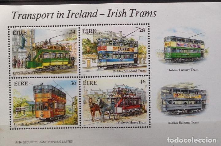 IRLANDA IRELAND EIRE SELLO NUEVO DE 1987 TRANSPORTE TRANVÍA (Sellos - Extranjero - Europa - Irlanda)