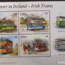 Sellos: IRLANDA IRELAND EIRE SELLO NUEVO DE 1987 TRANSPORTE TRANVÍA. Lote 144621094
