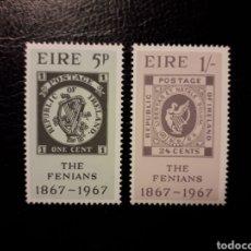Sellos: IRLANDA. YVERT 199/200 SERIE COMPLETA NUEVA SIN CHARNELA. SUBLEVACIÓN FENIANA. SELLOS SOBRE SELLOS. Lote 151338301