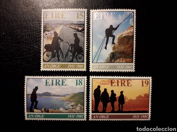 IRLANDA. YVERT 446/9 SERIE COMPLETA NUEVA ***. ASOCIACIÓN ALBERGUES JUVENTUD. CICLISMO, ALPINISMO (Sellos - Extranjero - Europa - Irlanda)