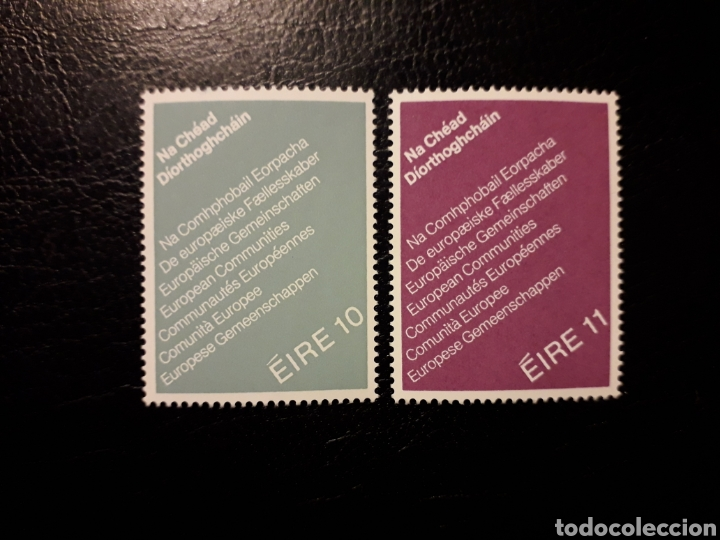 IRLANDA. YVERT 396/7 SERIE COMPLETA NUEVA SIN CHARNELA. ELECCIONES PARLAMENTO EUROPEO (Sellos - Extranjero - Europa - Irlanda)