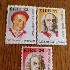 Sellos: IRLANDA: YT. 568/70 MNH, MÚSICA, COMPOSITORES, BACH. Lote 154794056