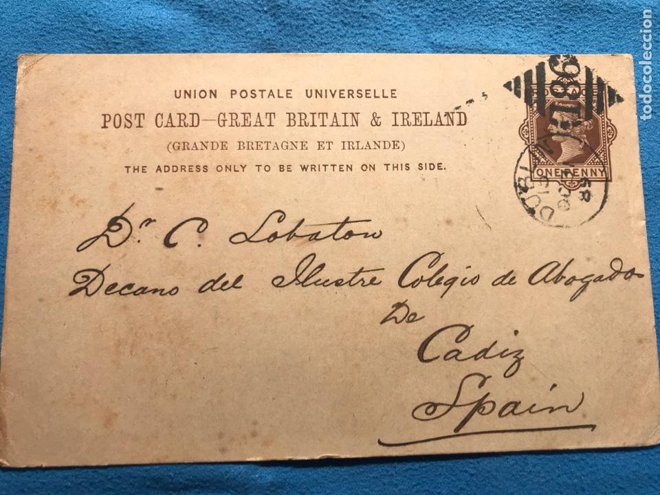 DUBLIN CADIZ. 1889 (Sellos - Extranjero - Europa - Irlanda)