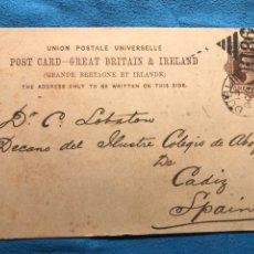 Sellos: DUBLIN CADIZ. 1889. Lote 160937772