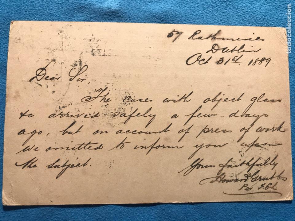 Sellos: Dublin Cadiz. 1889 - Foto 2 - 160937772