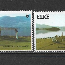 Sellos: IRLANDA 1975 SC 371-372 3.00 ** GOLF - 5/8. Lote 278514378