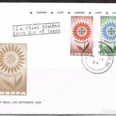 Sellos: [CF5165B] IRLANDA 1964, FDC SERIE EUROPA (NS). Lote 164877266