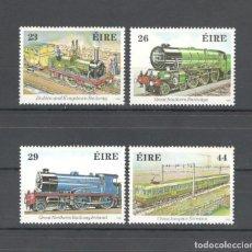 Sellos: IRLANDA 1984 - SCOTT 581/584 HB. 150 ANIV FERROCARRILES IRLANDESES - MNH. Lote 174099972
