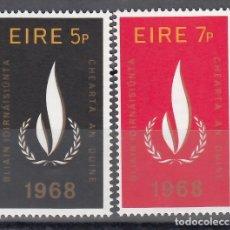 Timbres: IRLANDA,1968 YVERT Nº 227 / 228 /**/, AÑO DE LOS DERECHOS HUMANOS. Lote 174346393
