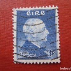 Sellos: -IRLANDA 1957, JOHN REDMOND, YVERT 128. Lote 185910887