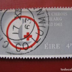Sellos: -IRLANDA 1963, CENTENARIO DE LA CRUZ ROJA, YVERT 161. Lote 185911561
