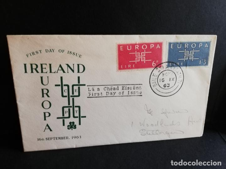 SOBRE PRIMER DIA. EUROPA. IRELAND. 1963. (Sellos - Extranjero - Europa - Irlanda)