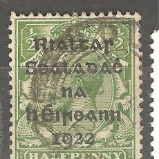 Sellos: IRLANDA, 1922, CAT.YT. 1 A, USADOS,SIN GOMA ORIGINAL,FIJASELLOS.. Lote 187227893