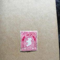 Sellos: IRLANDA - EIRE - VALOR FACIAL 1 - AÑO 1923 - MAPA DE IRLANDA - YV 41 MI 41A. Lote 192368036