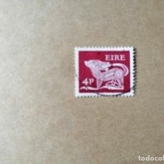 Sellos: IRLANDA - EIRE - VALOR FACIAL 4 P -AÑO 1969 -ANIMALES CELTAS-PERRO- ANTIGUO BROCHE S. VII -YV 215 . Lote 192368426