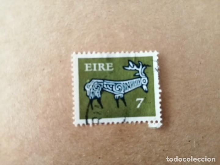 IRLANDA - EIRE - VALOR FACIAL 7 - AÑO 1969 - ANIMALES CELTAS - CIERVO (Sellos - Extranjero - Europa - Irlanda)