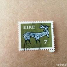 Sellos: IRLANDA - EIRE - VALOR FACIAL 7 - AÑO 1969 - ANIMALES CELTAS - CIERVO. Lote 192397478
