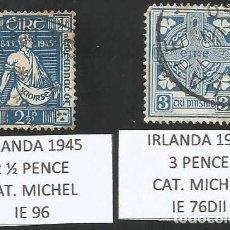 Sellos: IRLANDA VARIOS AÑOS - LOTE 2 SELLOS USADOS. Lote 193185778