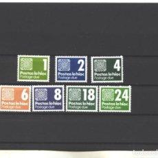 Sellos: IRLANDA 1980 - YVERT NRO. 25-31 TASA - NUEVOS. Lote 193282120
