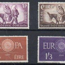 Sellos: IRLANDA AÑO 1960 YV 144/47*** AÑO COMPLETO - AÑO INTERNACIONAL DEL REFUGIADO - EUROPA. Lote 196204540