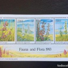 Sellos: IRLANDA Nº YVERT HB 13*** AÑO 1993. FLORA Y FAUNA. Lote 197873553