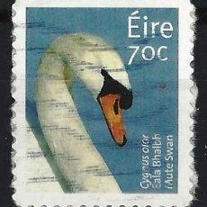 Sellos: IRLANDA 2015 - FAUNA, CISNE - SELLO USADO CON PAPEL . Lote 198522981