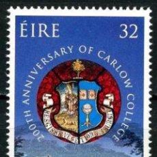 Sellos: IRLANDA 1993 - 300 ANIVERSARIO DEL CARLOW COLLEGE - YVERT Nº 835**. Lote 198715096