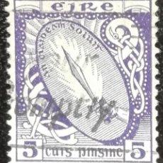 Sellos: 1922. IRLANDA. 47. SÍMBOLOS IRLANDESES. GLADIO LUMINOSO. USADO. GANGA.. Lote 199126968