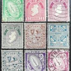 Sellos: 1922. IRLANDA. 40/48. SÍMBOLOS IRLANDESES. GLADIO LUMINOSO, MAPA EIRE, ESCUDOS, CRUZ CELTA. USADO.. Lote 199127172