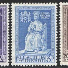 Sellos: IRLANDA, 1950 YVERT Nº 113 / 115 /*/, AÑO SANTO. Lote 199643473