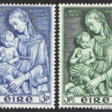 Sellos: IRLANDA, 1954 YVERT Nº 122 / 123 /*/, AÑO MARIANO. Lote 199643686