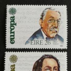 Sellos: IRLANDA, TEMA EUROPA CEPT AÑO 1985 MNH (FOTOGRAFÍA REAL). Lote 222198558