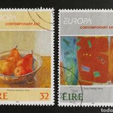 Sellos: IRLANDA, EUROPA CEPT 1993, ARTE CONTEMPORÁNEO, USADA (FOTOGRAFÍA REAL). Lote 203310555