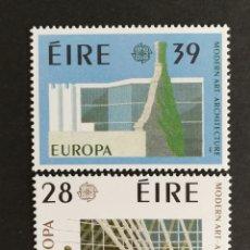 Sellos: IRLANDA, EUROPA CEPT 1987 MNH, ARQUITECTURA MODERNA (FOTOGRAFÍA REAL). Lote 204020717