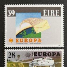 Sellos: IRLANDA, EUROPA CEPT 1988 MNH, TRANSPORTES Y COMUNICACIONES (FOTOGRAFÍA REAL). Lote 204053793