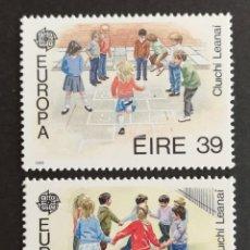 Sellos: IRLANDA, EUROPA CEPT 1989 MNH, JUEGOS INFANTILES (FOTOGRAFÍA REAL). Lote 204061763