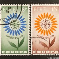 Sellos: IRLANDA, EUROPA CEPT 1964 USADOS (FOTOGRAFÍA REAL). Lote 204110901
